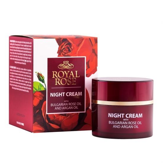 ROYAL ROSE Kem dưỡng da ban đêm tinh dầu hoa hồng và argan 50ml